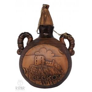 """Pastierska fľaša malá """"Beckov"""" 3117 - 9"""