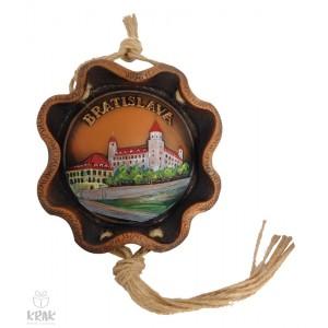 """Keramická plaketa, farebná - """"Bratislava"""" 3154 - 4"""