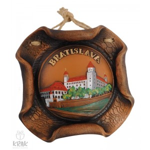 """Keramická plaketa farebná -  """"Bratislava"""" 3155 - 4"""