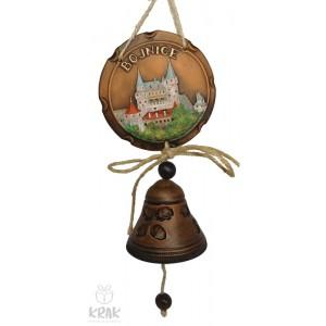 """Keramická plaketa farebná so zvončekom """"Bojnice"""" 3157 - 2"""
