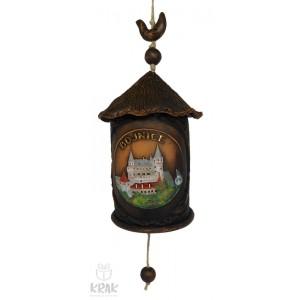 "Keramický zvonček v tvare domčeka ""Bojnice"" 3159 - 1"