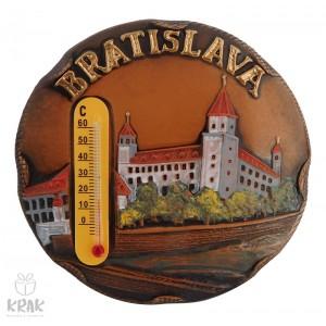 "Keramická magnetka farebná s teplomerom - ""Bratislava"" 3167 - 9"