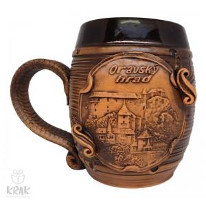 """Keramický krígeľ 500 ml. """"Oravský hrad"""" 3525 - 11"""
