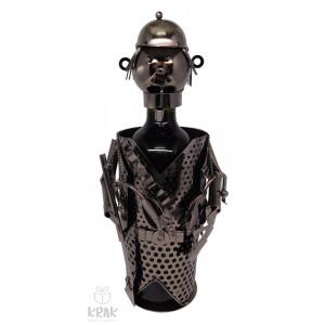 """Kovový stojan na víno """"Poľovník"""" (bez fľaše) - 3526 - 1"""