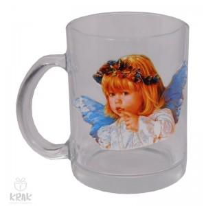 """Hrnček """"priehľadný"""" -  """"anjel"""" dekor 1 - 2760 - 1"""