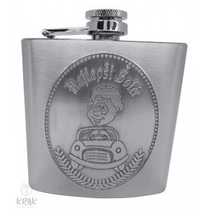 """Kovová fľaška """"ploskačka"""" stredná s kov. dekorom - Najlepší šofér - 2625 - 7"""