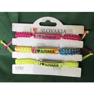 Pletený náramok I love Slovakia 2477