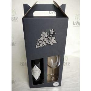 Vínová sada so striebornou kovovou nálepkou v krabici 2940